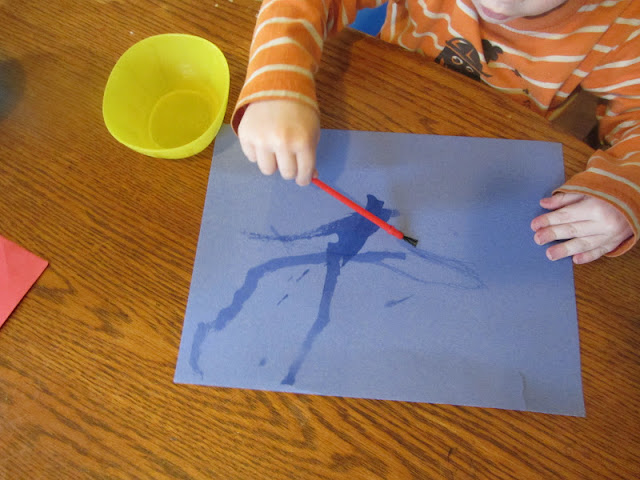 tot school idea-water painting