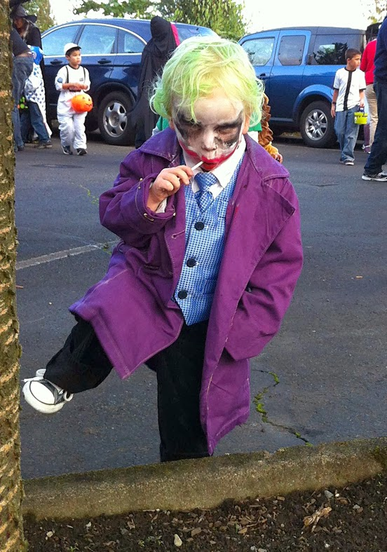 2 Year old playing 'The Joker' Costume
