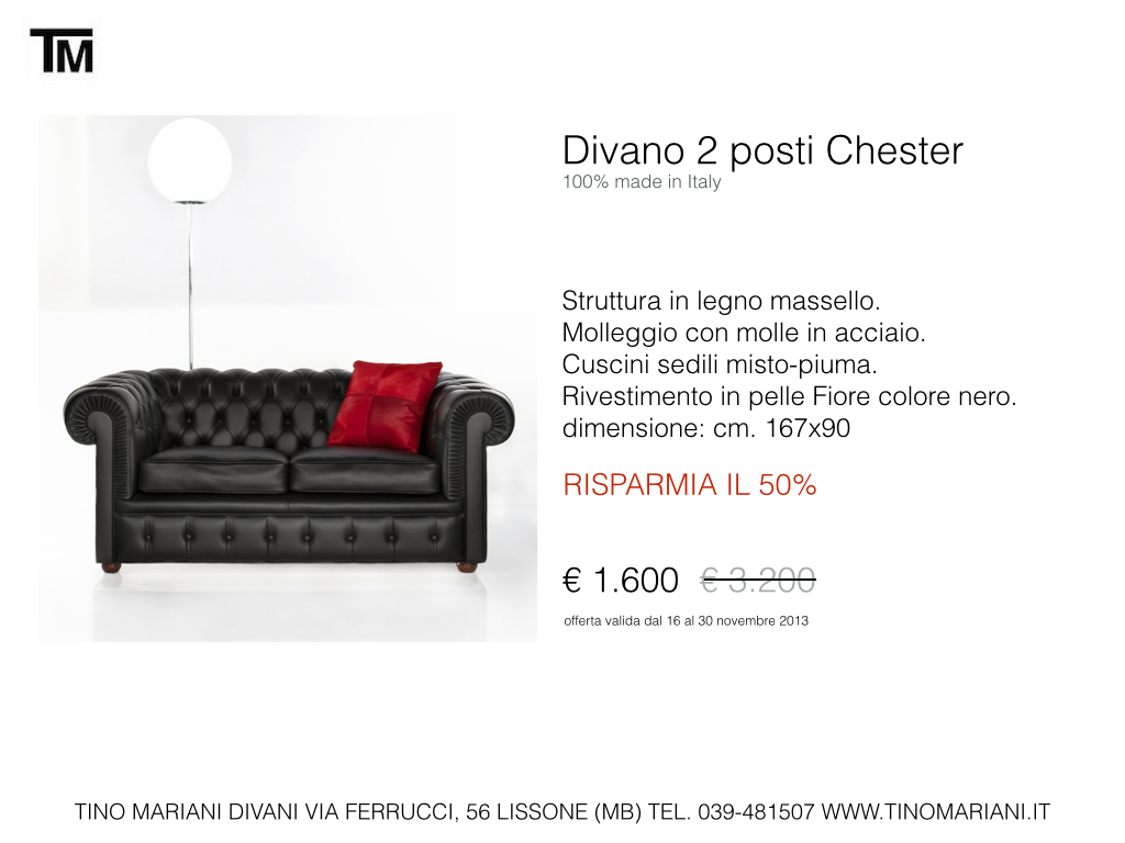 Divani blog tino mariani divani in promozione tino mariani - Dimensione divano 2 posti ...
