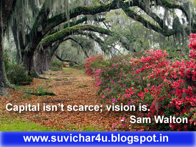 Capital isn't scarce; vision is.