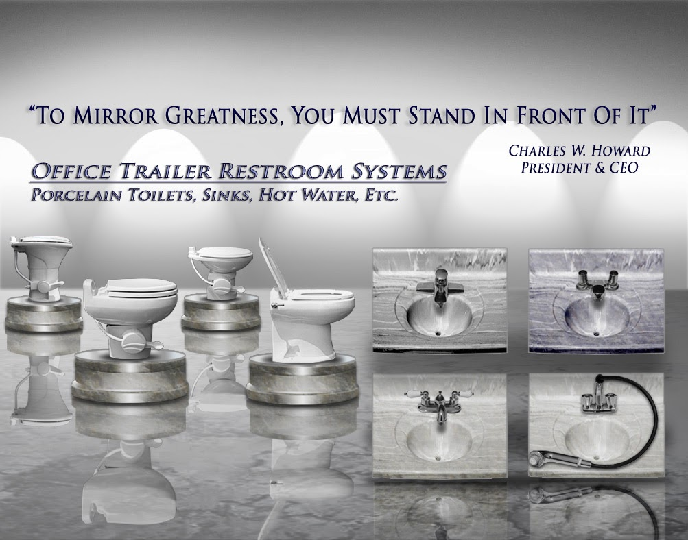 Porcelain Toilet System for Office Trailers by CALLAHEAD