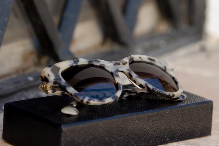 Gafas online estampado Blanco y Havana tendencia