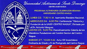 ACTIVIDADES ANIVERSARIO DEL CENTRO UASD-NAGUA