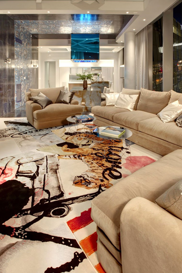 penthouse club design home nightclub Chemical Spaces, art rugs