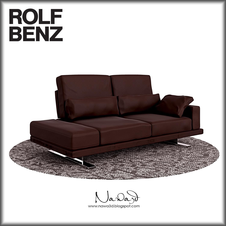 rolf benz vero 3d visualization nawa3d. Black Bedroom Furniture Sets. Home Design Ideas
