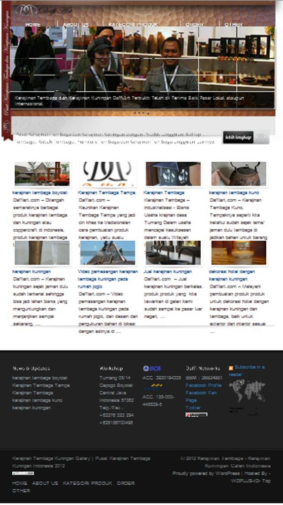 kerajinan tembaga | Daffiart.com