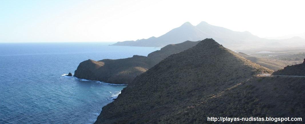 Costa del Cabo de Gata desde el mirador de la Amatista