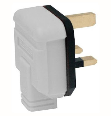 13A 3 Pin plug in white, heavy duty single plug white(PT13W white plug)