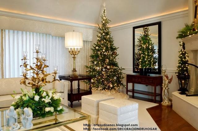 ¿Cómo Decorar la Sala en Navidad? - Living Christmas Natal by artesydisenos.blogspot.com