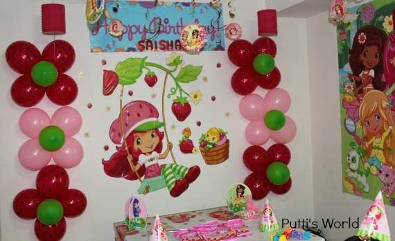 Strawberry Themed Birthday Party DIY