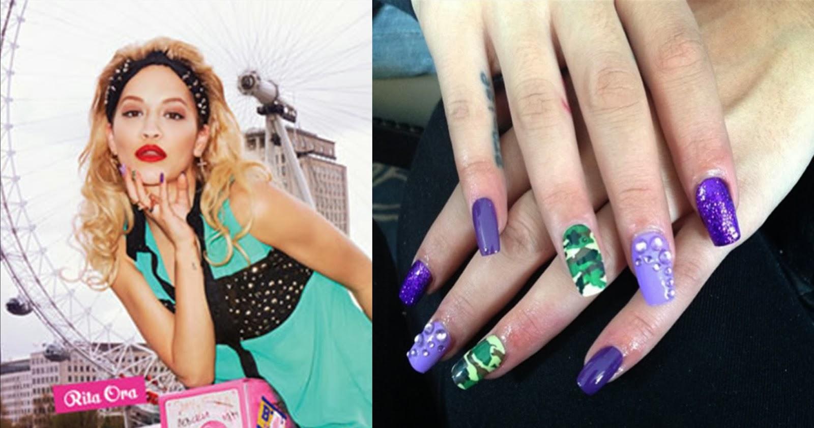 Unhas decoradas, nail art, Rita Ora