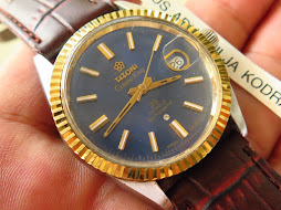 TITONI COSMO KING 14k SUNBURST BLUE DIAL - 25 JEWELS ROTOMATIC