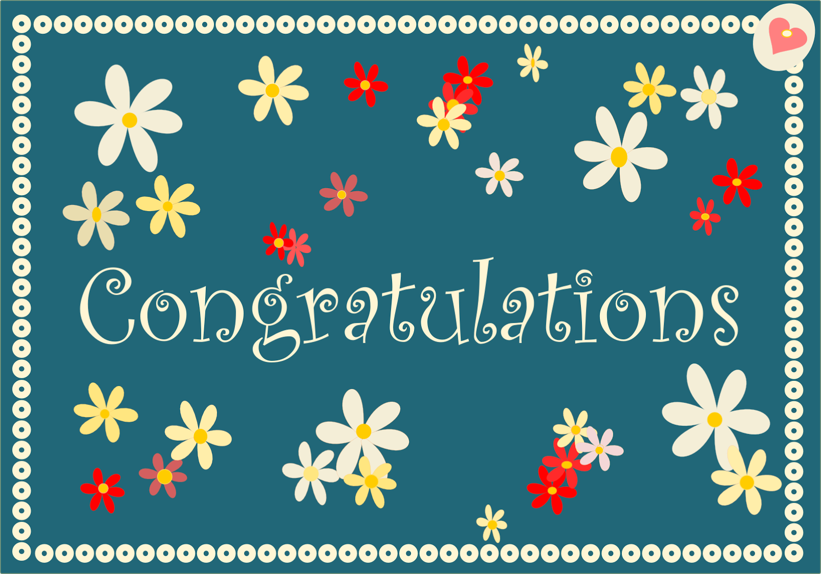 free printable congratulations cards in retro colors ...