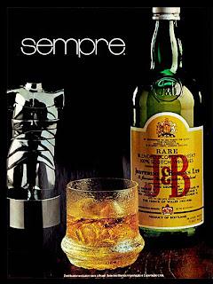 propaganda Whisky JB - 1978. Anos 70. anos 70.  1974. década de 70. os anos 70; propaganda na década de 70; Brazil in the 70s, história anos 70; Oswaldo Hernandez;