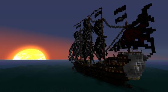 Bateau Pirate Minecraft