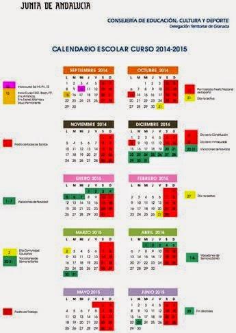Calendario Curso 2014/20115. GRANADA