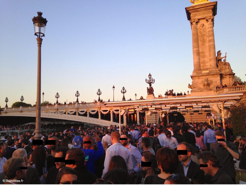 terrasse du Faust, Quai Alexandre III bords de Seine à Paris, terrasse du Faust, Quai Alexandre III bords de Seine à Paris coucher de soleil soirée afterwork soirée d'ouverture opening night Faust