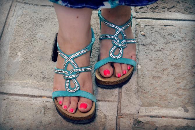 sandali gioiello azzurri