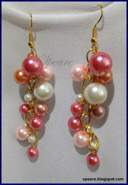 Landryneczki – kolczyki z różowych perełek