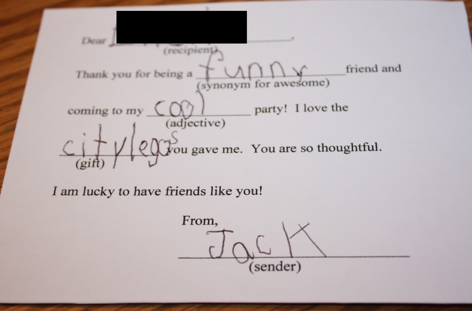 Naptime Notebook: Giving Mad Thanks...In A Note