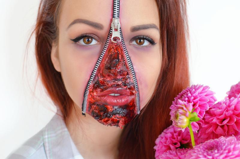 Halloween_Make_Up_Mit_Reißverschluss_Zipper_Face