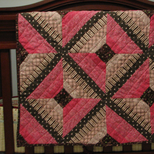 String Paper Pieced Quilt