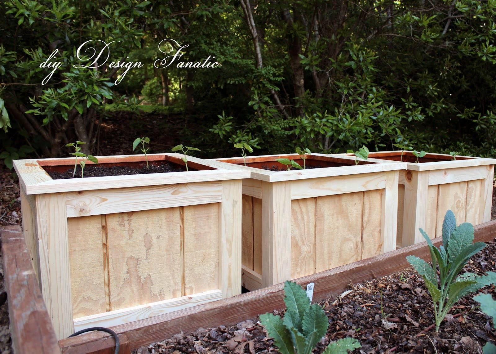 diy design fanatic finished planter boxes and garden update