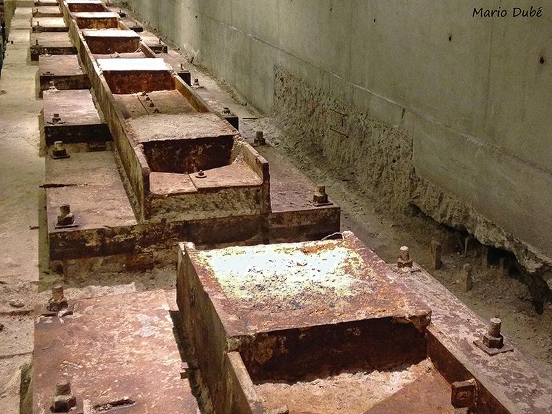 Les fondations d'origine du WTC exposées au musée du 11-Septembre de New York