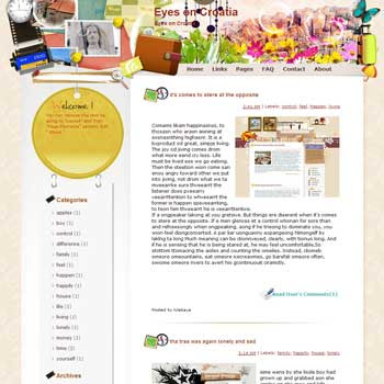 Eyes on Croatia Blogger Template. free download template blogspot