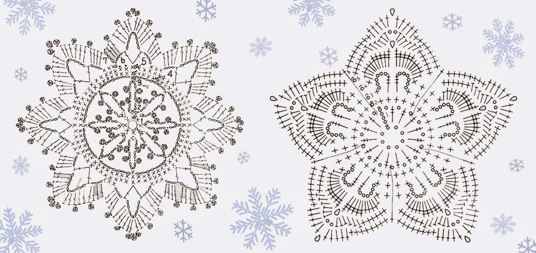 Popolare Relasé: Fiocchi di neve all'uncinetto - decorazioni natalizie Fai  AG59