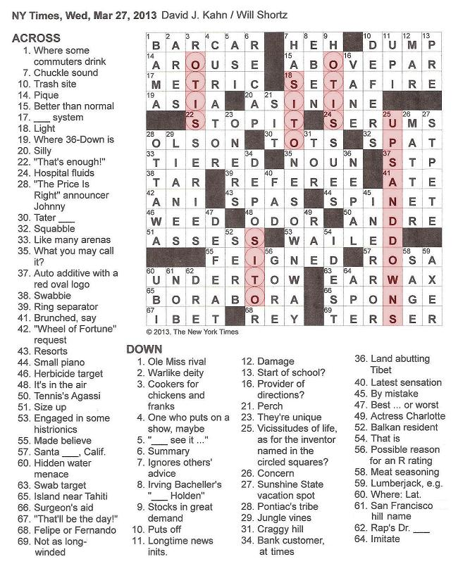 New+York+Times+Crossword+by+David+J+Kahn+edited+by+Edited+by+Will