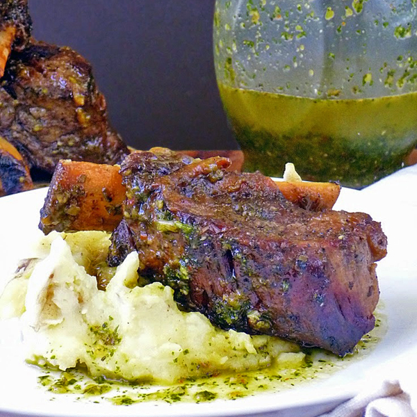Chimichurri Braised Beef Short Ribs by Life Tastes Good