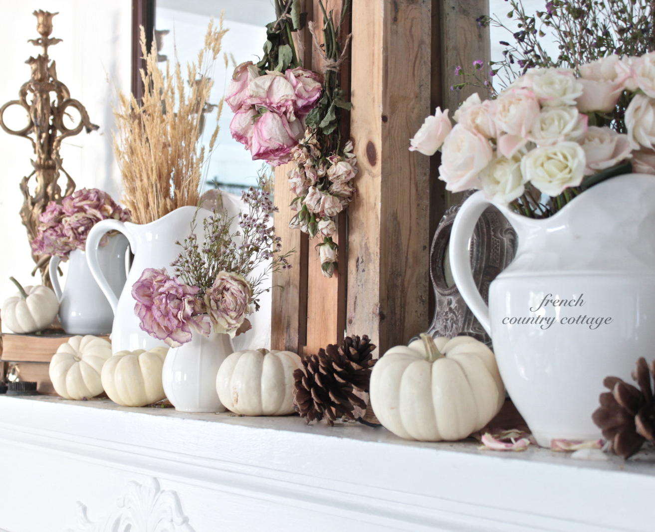 Autumn at french country cottage french country cottage for Autumn flower decoration