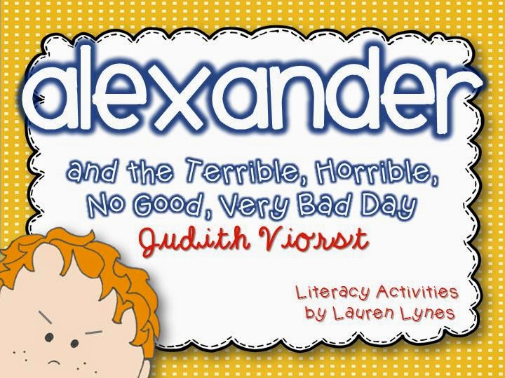 http://www.teacherspayteachers.com/Product/Alexander-and-the-Terrible-Horrible-No-Good-Very-Bad-Day-Literacy-Unit-1252923