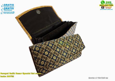 Dompet Batik Besar Special List Emas