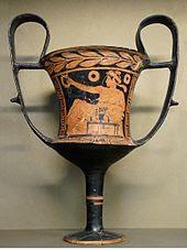 Cantaro antico calice a due manici utilizzato per dissetarsi
