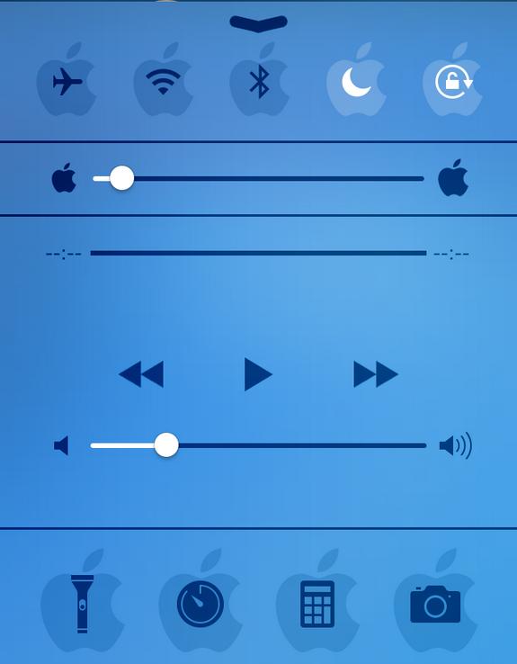 Control Center Apple Logo | Tutorial | Tips Trik