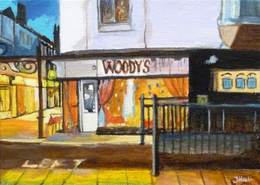 Painting from Jane Hall's 'Postcards From Great Yarmouth' series