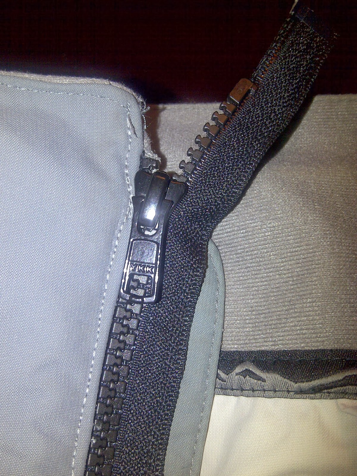 how to fix a zipper on one side