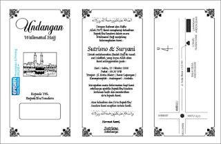 ... undangan Walimatul Haji kami sediakan file Corel Draw silahkan