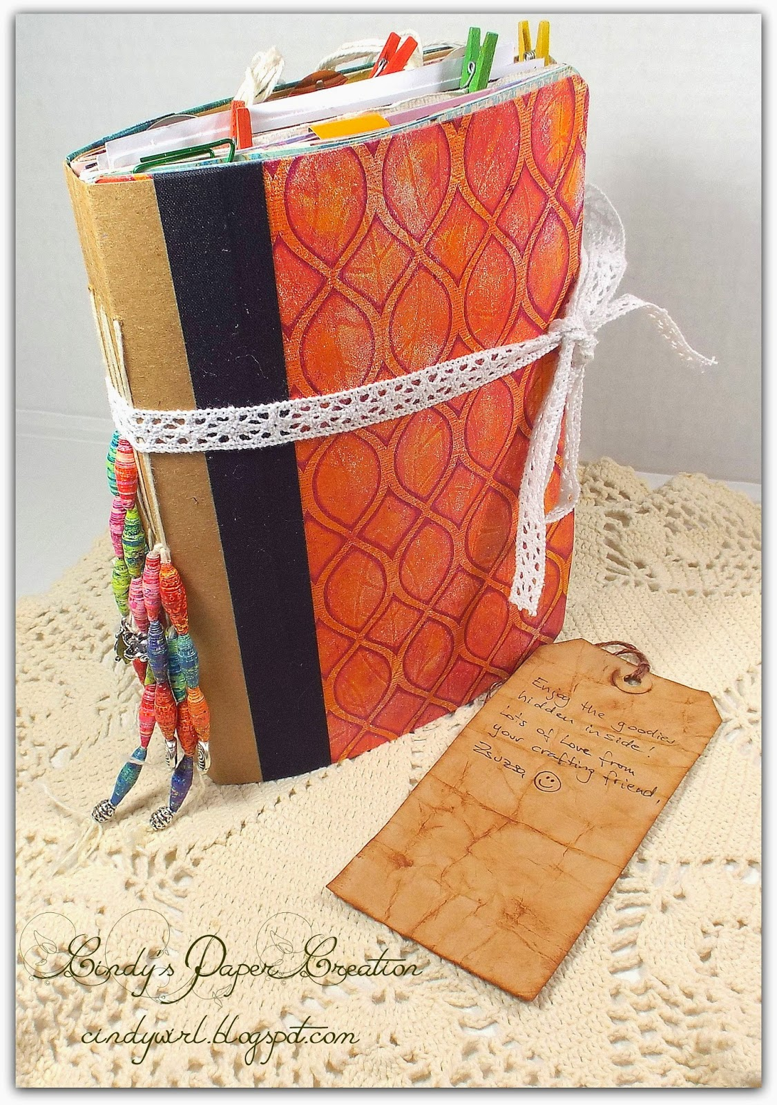 A Handmade Journal by Cindy's Paper Creation