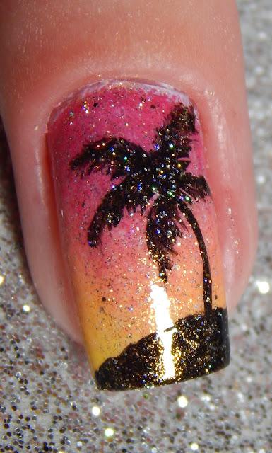 nail art coqueiro
