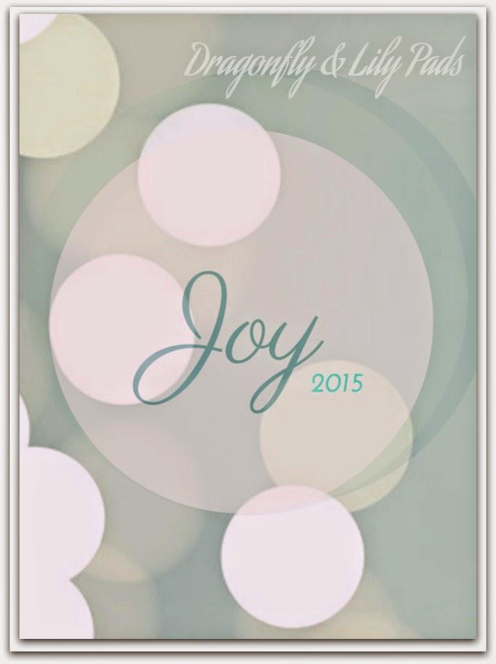 Word of the year, Joy, 2015, Lights, Sparkling Joy, Teal, White, Circles