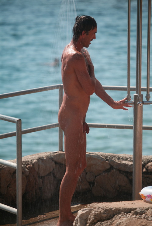 Naked men showering outdoors gay dane finds