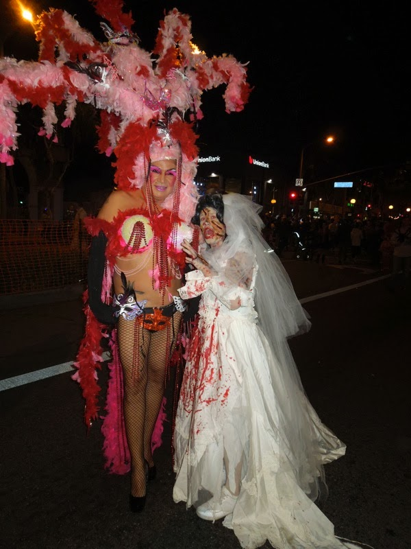 West Hollywood Halloween showgirl costume 2013