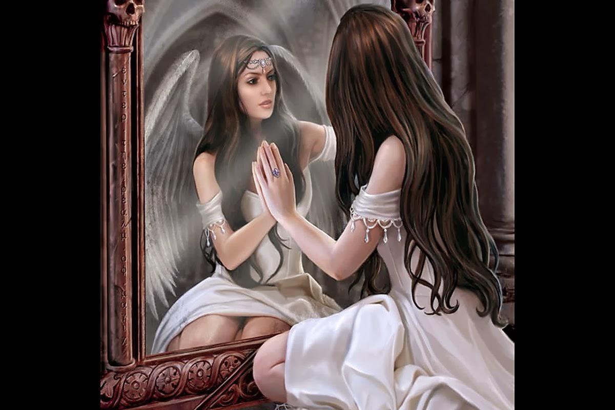 ~Siempre fuiste mi espejo, quiero decir, que para verme, tenía que mirarte~