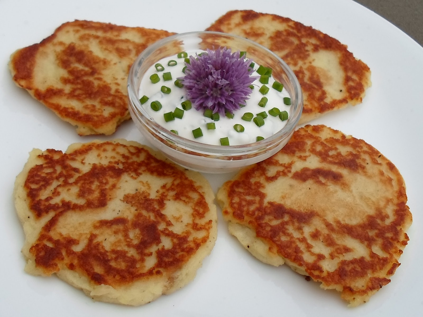 Happier Than A Pig In Mud: Roasted Garlic Potato Cakes