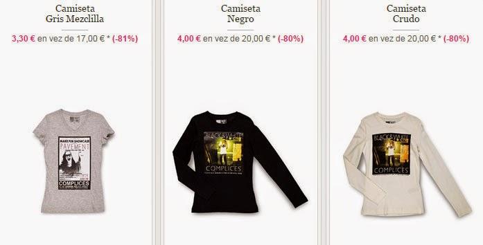 Ejemplos de camisetas de manga corta y manga larga muy baratas