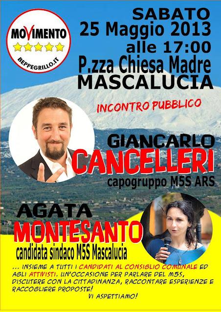 Agata Montesanto e Giancarlo Cancelleri 25 maggio Mascalucia