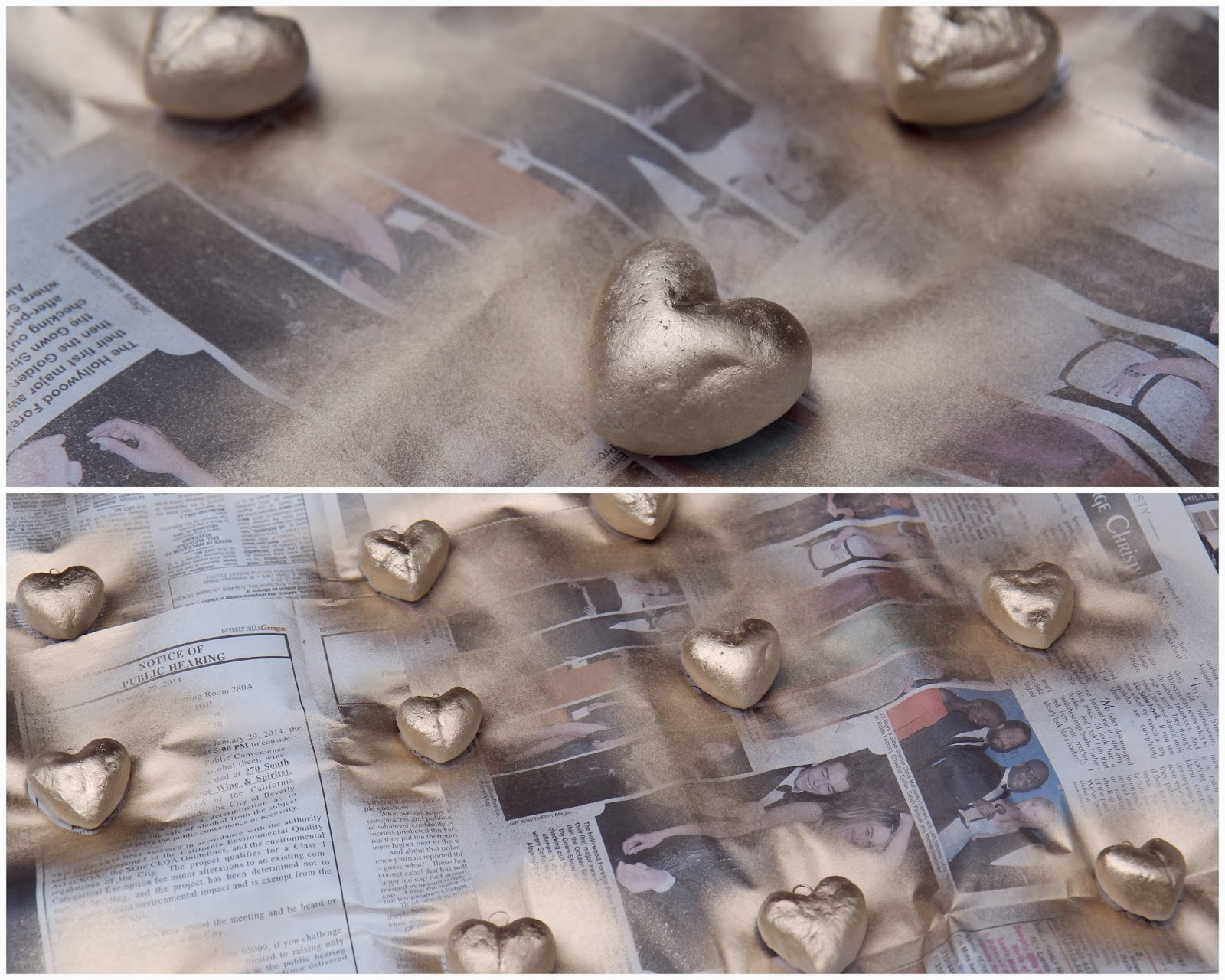Paint Heart Ornaments for Valentine's Day Home Decor